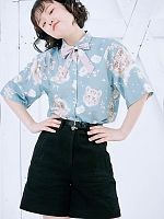 Rose Little Tiger Retro Prints Shirt By Crucis Universal Tailor Company