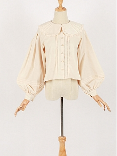 Chiffon Fabric Bishop Sleeves Blouse By Crucis Universal Tailor Company