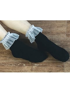Gauze Trim Socks By Crucis Universal Tailor Company