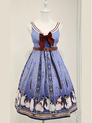 Custom Size Available  Blessing of The Ocean Boat Sailor Collar JSK by Cyan Lolita