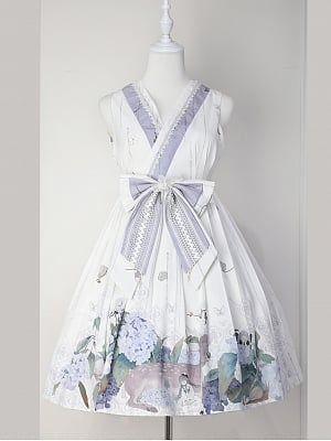 Custom Size Available Love Poems in Summer Wa Lolita Dress Short Version JSK by Cyan Lolita