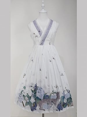 Custom Size Available Love Poems in Summer Wa Lolita Dress Long Version JSK by Cyan Lolita