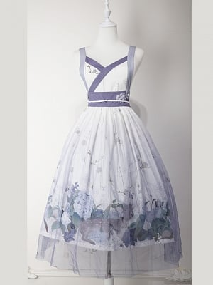 Custom Size Available Love Poems in Summer Wa Lolita Strap Dress JSK by Cyan Lolita