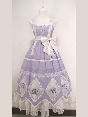Custom Size Available Love Poems in Summer Embroidery Lolita Dress by Cyan Lolita