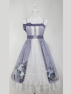 Custom Size Available Love Poems in Summer Wa Empire Waist Lolita Dress by Cyan Lolita