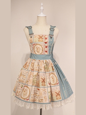 Custom Size Available BAA Story Collection Strap Dress JSK by Cyan Lolita