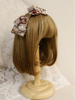 Map Element Bowknot Aside Hairclip By Cyan Lolita