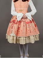 Custom Size Available Triangle Open Front Sleeveless Lolita JSK - Chinese Palace Lanterns by Souffle Song