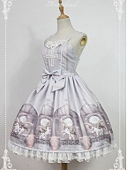 Custom Size Available Cross JSK Bowknot Decoration On The Waist And Lace Applique Skirt Hemline - Chrono Guardian by Souffle Song