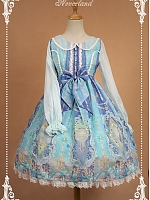 Empire Waist Long Sleeves And Lace Hemline Skirt Lolita OP- Crystal palace by Souffle Song