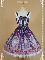 Custom Size Available Empire Waist Bowknot Decoration On The Waist And Layered Lace Hemline Skirt Lolita JSK- Crystal palace by Souffle Song
