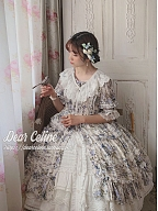 Morning Dew Flower Lace Embroidery Gorgeous Bust Front Section SK by Dear Celine