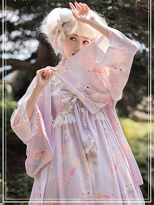 Cherry Blossom and Rabbit  Haori by Dear Celine