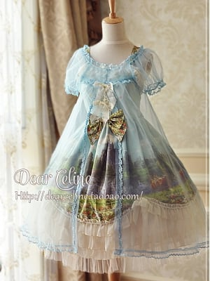 Midsummer Nights Dream Organdy Overdress by Dear Celine