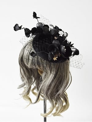 Black Swan Gothic Hat by Dominum Gi