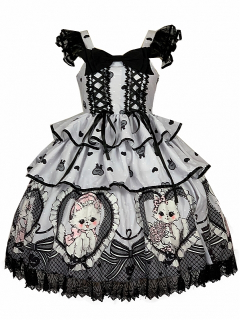 Elegant Royal Kitties Prints Lolita JSK by Diamond Honey