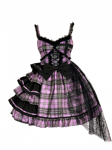 Idol Declaration Plaid Prints JSK Short Version Lolita Dress by Diamond Honey
