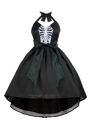 Mermaid Bony Halter Tuxedo Dress Lolita JSK by Diamond Honey