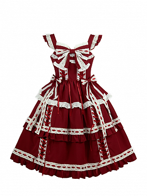 Vintage Tiered Lolita Dress JSK by Diamond Honey