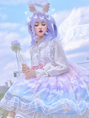 Fantasy Angel Gradient Color Clouds JSK by Diamond Honey