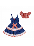 Sweet Denim Cami Dress Set by Diamond Honey