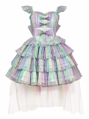 Rainbow Colorful Hanayome Lolita Dress JSK by Diamond Honey