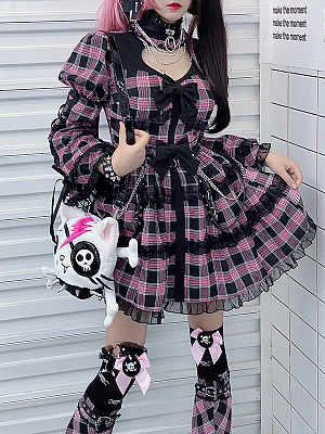 Esports Girls Harajuku Long Sleeves Dress by Diamond Honey