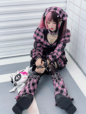 Esports Girls Harajuku Dress Matching Legwear by Diamond Honey