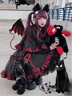 Little Red Riding Hood Dark Sweet Set Cape / Skirt by Diamond Honey