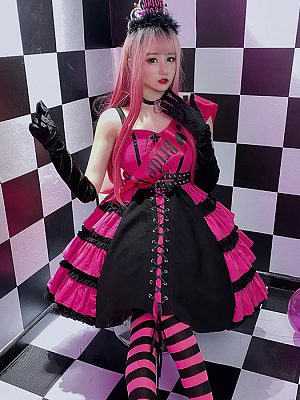 Punk Sweet Tiered Skirt Cami Dress by Diamond Honey