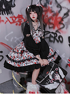 Gangster Girl Dark Sweet JK Set Top / Skirt by Diamond Honey