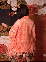 Romantic Taisho Era Wa Flower Printed Haori by Diamond Honey