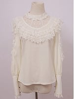 Two-Way Lace Cut Out Victorian Blouse by Diamond Honey
