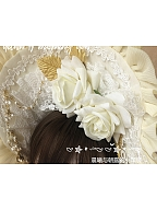 Ruffle Trimmed Bouquet Bonnet by Dawn and Morning Dew