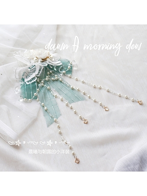Qi Lolita Song of Bamboo Necklace and Hairclip by Dawn and Morning Dew