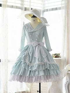 Elegant Vintage OP Classic Lolita Dress Litchi by Doris Night