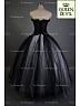 Black & White Gothic Long Ball Gown Two Piece Prom Party Dress - Queen Devil