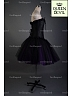 Ruffled Trim Black Corset and Short Purple and Black Ball Gown Skirt Two Piece Dress - Queen Devil
