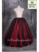 Queen Devil Special Offered Floor Length 2-color Skirt 4 Colors Available Custom Color Available - Queen Devil