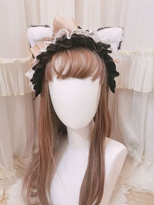 Ace Meow Lolita Matching KC /Hairclips by Paltry Star Shine