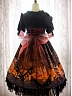 Pre-order Goldfish Swimming In Lotus Empire Waist Lace-up Back JSK by Eden Lost