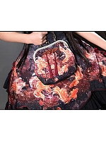 Pre-order Goldfish Swimming In Lotus Frame Bag without Frog Button by EdenLost