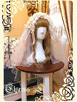 Diphylleia Bridal Lolita White Headwear Veil and Hairband by Elpress L