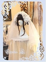 Firefly Bridal Lolita White Headwear Veil and Hairband by Elpress L