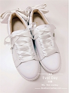 Bowknot On Heel White Shoes By Evol Day