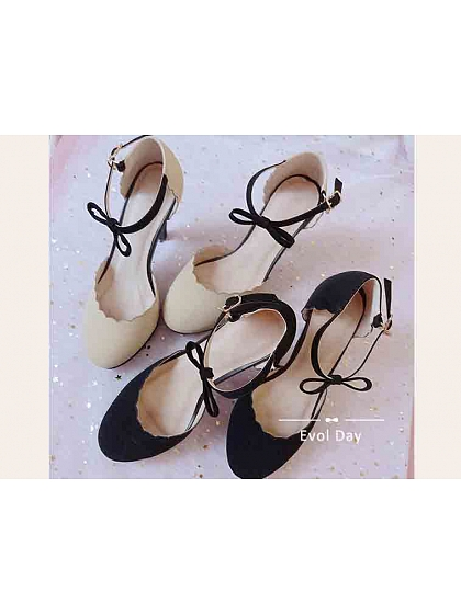 Bowknot Ankle Strap Pumps by Evol Day