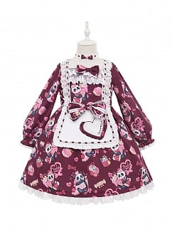 Dessert Panda Lolita Dress OP for Kids by Fairy Cat