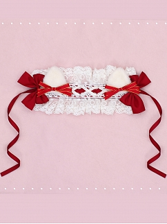 Little Red Riding Hood Lolita Dress OP Set Matching Hairband by Fairy Cat
