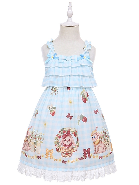 Rabbitberry Manor Lolita Dress JSK for Kids by Fairy Cat