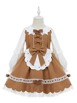 Cookies Lolita Dress JSK and Shirt for Kids by Fairy Cat